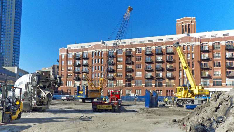 Caissons complete at 360 West Hubbard