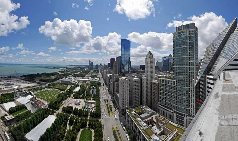 The views from Millennium Park Plaza