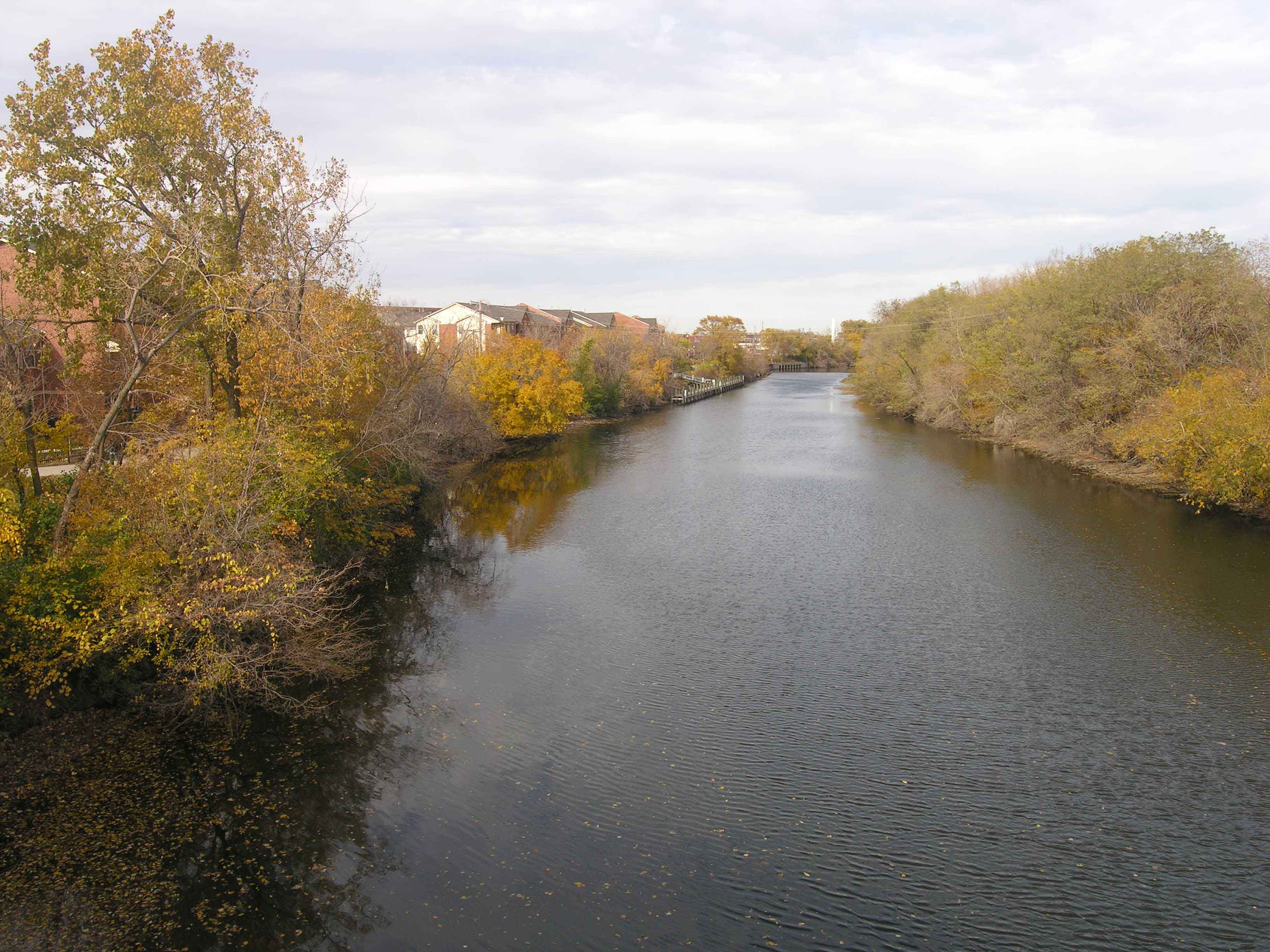 View of the river from Belmont bridge