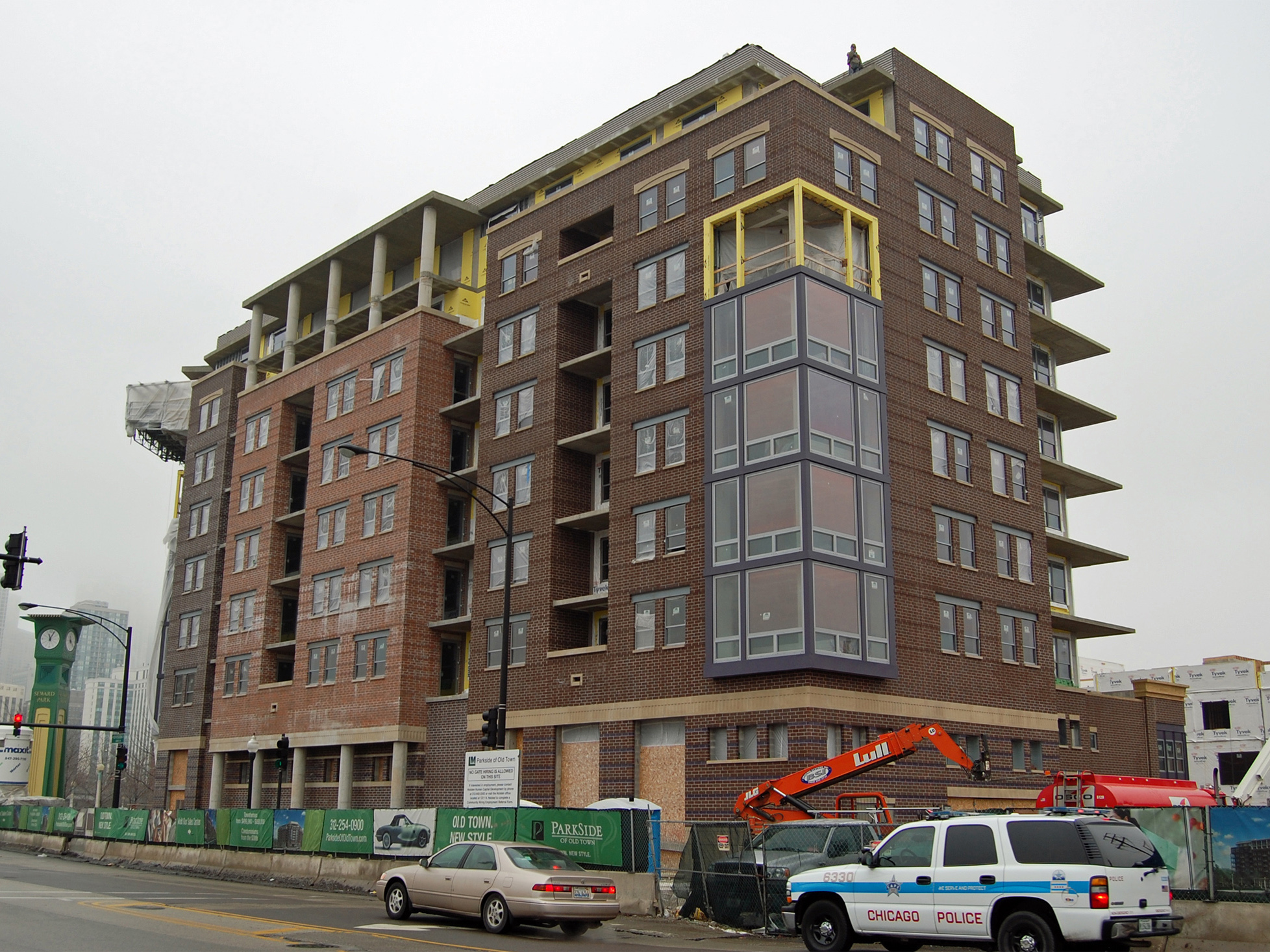 The Hudson nearing completion at Parkside of Old Town