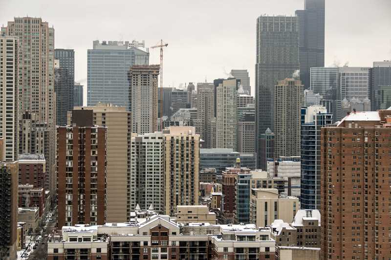 New River North apartment towers near topping out