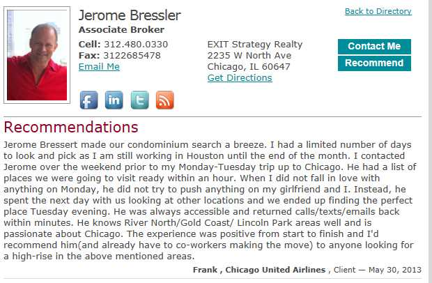 Is Jerome Bressler Chicago's sleaziest rental agent?
