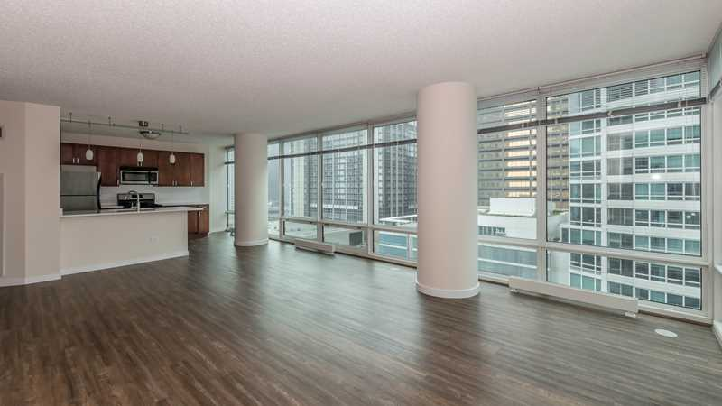 A renovated Streeterville studio and one-bedroom are available now