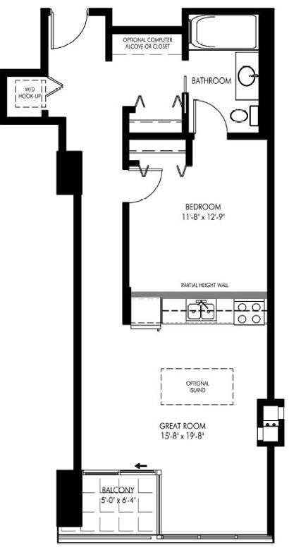 1720 South Michigan Floorplan 405