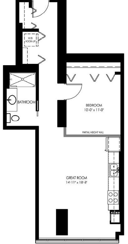 1720 South Michigan floorplan 1807