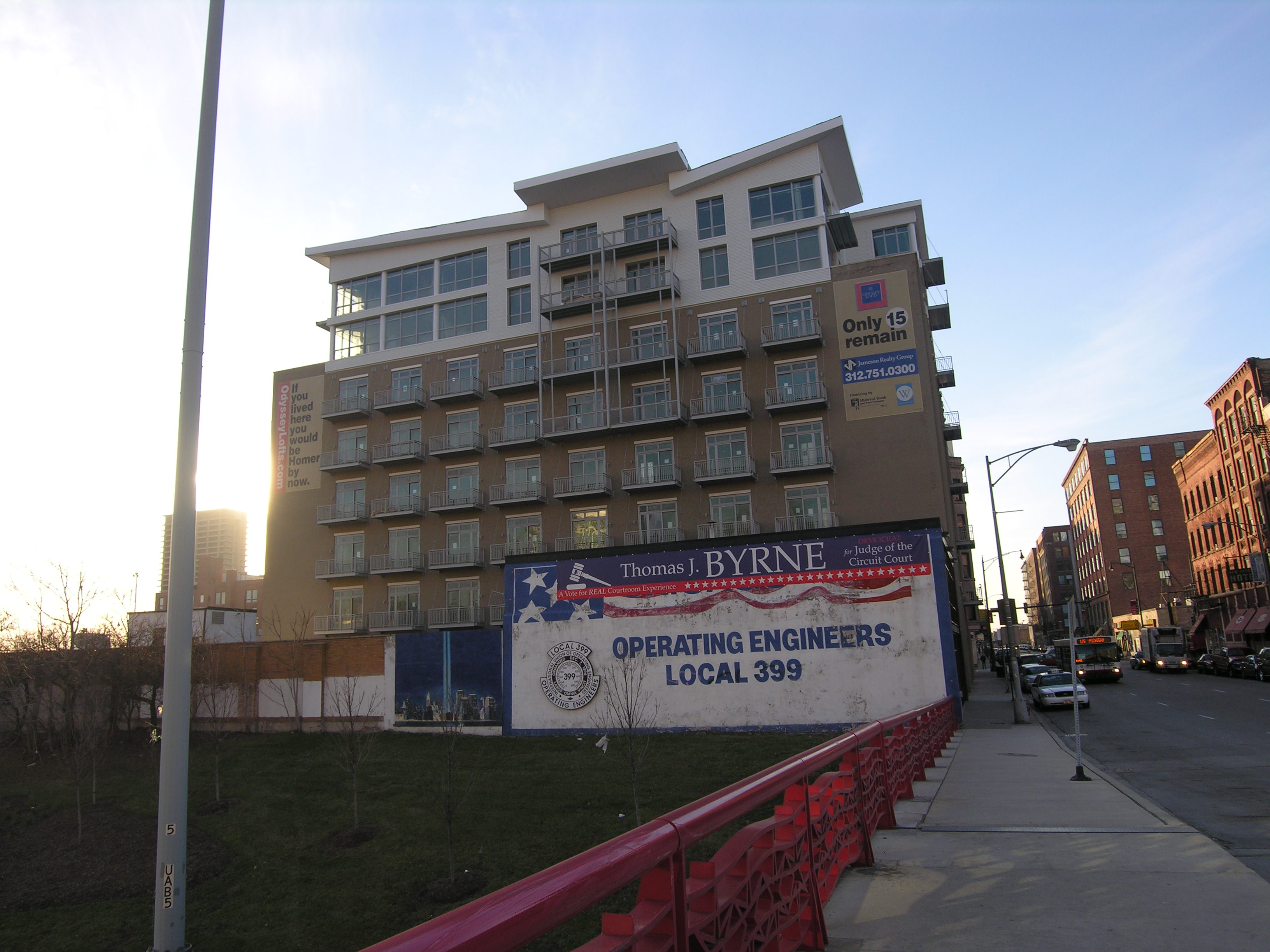 Work in progress: first occupancy near at Odyssey Lofts