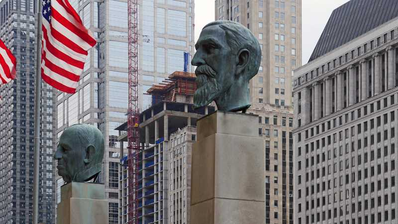 111 West Wacker and two other busts