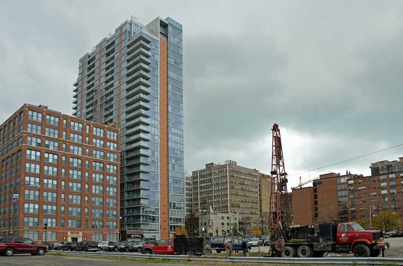 Is work imminent on South Loop apartment site?