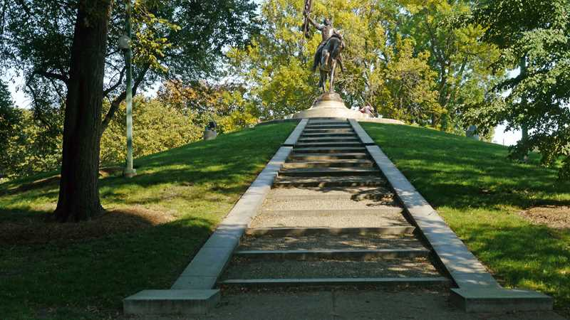 A Grant Park makeover near General Logan's statue